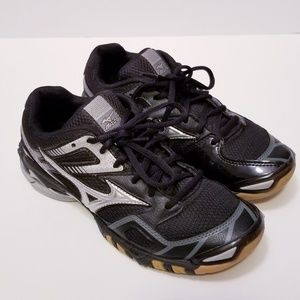 Mizuno Wave Bolt 3 Black Volleyball Shoes size 7.5